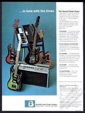 1966 Baldwin electric guitar Howard Combo Organ & amp photo vintage print ad