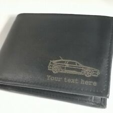 VW Scirocco Mk2 - Personalised Leather Wallet merchandise gift present