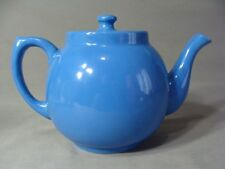 Nice Vintage Oxford Potteries Blue Teapot With Lid, USA