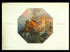 LA METAMORPHOSE D'ACTEON -1910- PHOTOLITHOGRAPHIE, ADOLFO MAGRINI