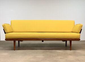 Danish Modern Peter Hvidt + Orla Mølgaard Teak 'Minerva' Daybed/Sofa