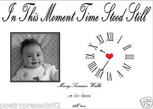 New Baby GIFT - The Day You Were Born Gift (in this moment time stood still)