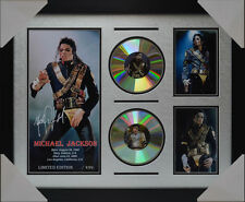 MICHAEL JACKSON v2 MEMORABILIA SIGNED FRAMED LIMITED EDITION 2 CD 2016 #B