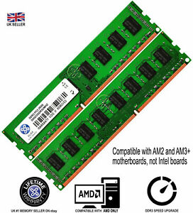XUM 4GB 8GB Memory RAM 4 AMD Desktop PC3 10600 DDR3 1333MHz 240 Pin Non-ECC Lot