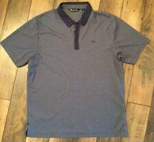 Men's Travis Mathew Short Sleeve Polo Golf Shirt. Dark Gray .Light Gray/Xl