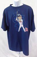 St. Louis Cardinals Baseball Albert Pujols Short Sleeve T-Shirt Navy