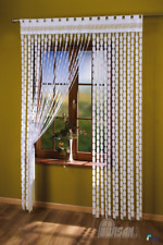 String Curtain Panel White Net Window Door Fly Screen Tassels Fringe Blind Greek