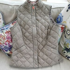 Joules Ladies Grey Quilted Gilet Body Warmer Size 14