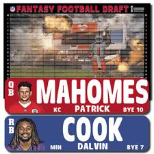 "2020 IMAGE Fantasy Football Draft Kit - 1"" x 4"" Player Labels & Draft Board"