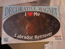 I Love My Dark Labrador Retriever~Dog Decorative Magnet~New In Package~Made/Usa
