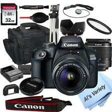 Canon EOS 2000D / Rebel T7 24.1MP  DSLR Camera + 18-55mm Lens-18PC Bundle