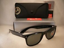 Ray Ban 2132 New Wayfarer Black w Green Polar Lens (RB2132 901/58 58mm size)