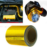 """2""""x15' Roll Self Adhesive Reflective Gold High Temperature Heat Shield Wrap Tape"""