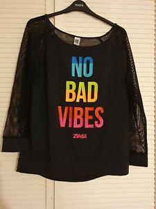 Zumba XXL No Bad Vibes Black Sweatshirt