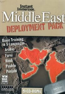 Middle East Deployment Language Learning 9 CDs Arabic,Farsi,Hindi,Pashto,Punjabi