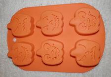 1x Halloween Silikon Backform 6er Muffin form Kürbis Gipsform Eisform Pumpkin