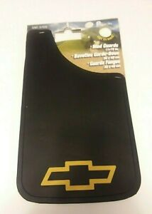 Set of 2 Plasticolor CHEVY GOLD BOWTIE Easy Fit Mud Guard 11 x 19 BRAND NEW!