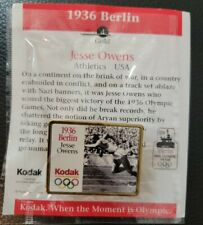 Jesse Owens~1936 Berlin Collector Olympic Pin~Sealed in Plastic w/Info Card