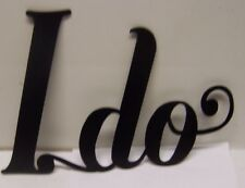 Metal Wedding Sign Plaque Chalkboard Sign Vintage Wedding Sign for I DO