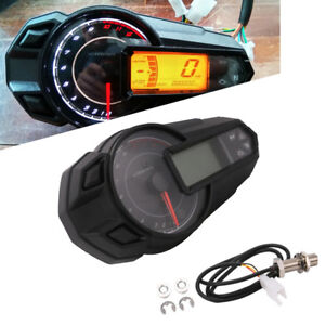 Multifunction Motorcycle Digital Gauge Speedo Tacho Odo Meter Kmh Indicator Well