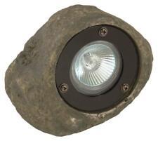 Outdoor Low Voltage 20-Watt Grey Rock Spotlight Decorative Landscape Lighting