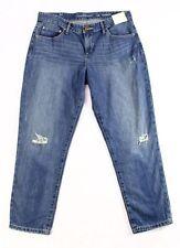 Calvin Klein Women's Size 30 Supreme Blue Wash Destroyed Boyfriend Ankle Jeans