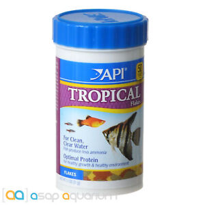 API Tropical Flakes Fish Food 1.1oz (31g) Freshwater Aquarium Tropical Flake