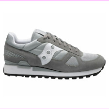 f2559e58499c SAUCONY SHADOW ORIGINAL Men s Shoes GREY   WHITE 11.5