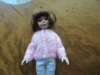 """NO DOLL BEAUTIFULLY MADE 4 14""""BETSY McCALL MOHAIR BLEND CARD SWEATER  DARLING!"""