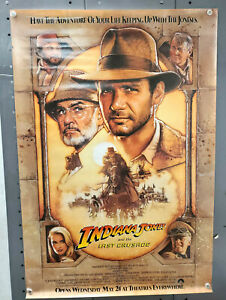 "Original 1989 Indiana Jones & Last Crusade Advance 1-Sheet Movie Poster-27""x40"""
