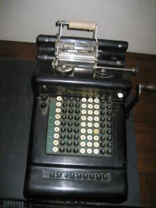 Vintage Collectible REFURBISHED  Burroughs 9 digit Adding Machine early 1900's