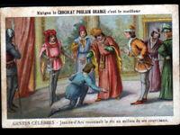 IMAGE CHROMO CHOCOLAT POULAIN / JEANNE d'ARC & ROI CHARLES VII