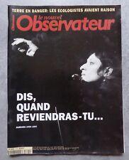 Barbara (chanteuse). Le Nouvel Observateur N°1724, Novembre 1997