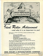 1948 Print Ad of Ideal Roller & Manufacturing Co Rollers for Litho & Typo Inks