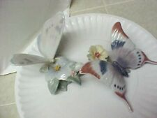 2 Lladro Butterfly Figurines 1988 & 1994 Excellent Condition