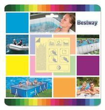 Kit riparazione BESTWAY INTEX toppe per piscina applicazione sott'acqua 10 pezzi