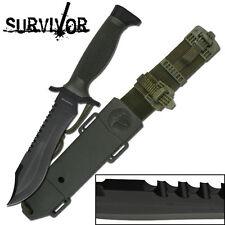 KNIFE COLTELLO DA CACCIA SURVIVOR 60 SOPRAVVIVENZA SURVIVAL CAMPING STILE RAMBO