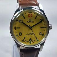 Vintage Roamer Mechanical Hand Winding Movement Mens Analog Wrist Watch AB293