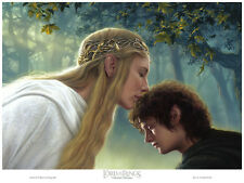 The Lord of the Rings:  Galadriel and Frodo lithograph by Jerry VanderStelt