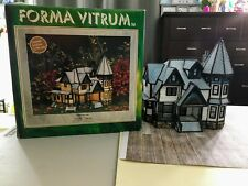 Forma Vitrum Vitreville Village Edgewater Inn Stained Glass Christmas with box