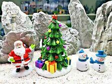 Aquarium ornaments Father Christmas tree snowman Santa Claus fish tank