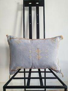 Moroccan pillow, cactus silk pillow, sabra cushion, handmade berber pillow coast