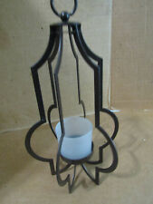PARTYLITE BROWN METAL TABLE TOP OR HANGING VOTIVE/TEALIGHT CANDLE HOLDER
