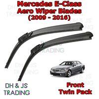 (09-16) Mercedes Benz E Class Aero Wiper Blades / Front Flat Wipers Merc E-Class
