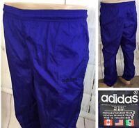Vintage Adidas Track Pants Shiny Sweatpants Nylon Unlined Retro 90s Men S Blue