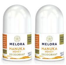 Melora Natural Organic Manuka Honey Deodorant Roll On – 50ml x 2