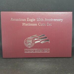 2007 American Platinum Eagle 10th Anniversary Two-Coin Set Fresh Coins
