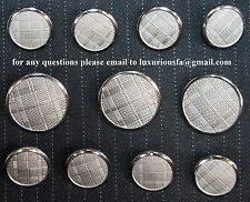 Silver Blazer Buttons Set For Suit, Sport Coat, Blazer - High Quality