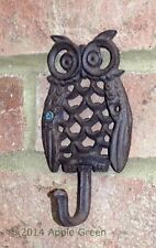 Owl Wall Hook Hall Cast Iron Kitchen Garden Porch Country Key Coat Bag Tidy New