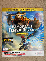 "Immortals Fenyx Rising GameStop Promotional Ad Poster 24x28"" Switch PS4 Xbox One"